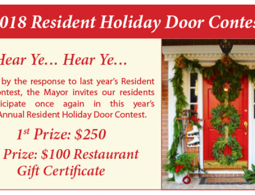2018 Resident Holiday Door Contest