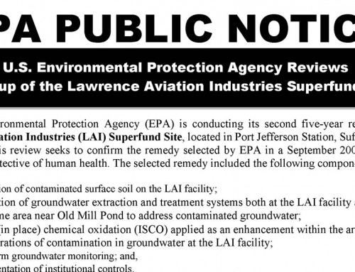 Lawrence Aviation EPA Public Notice